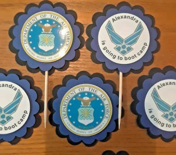 air-force-cupcake-toppers-retirement-party-boot-camp-military-navy-marines-army