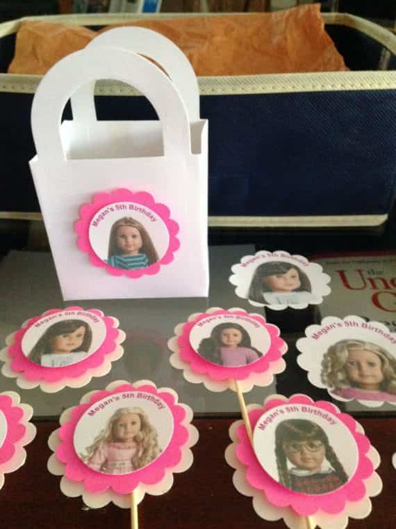 american-girl-doll-birthday-party-custom-cupcake-toppers-goody-bags-stickers