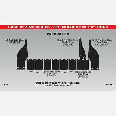 """Case 3020 Black Skid Shoe 8.5"""" x 22.5"""" - 41851 - (Case IH 3020)"""