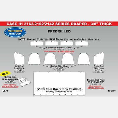 """Case IH 2162 1/4"""" Draper Skid Plate - 35 3/16"""" x 76 5/8"""" - 42299"""