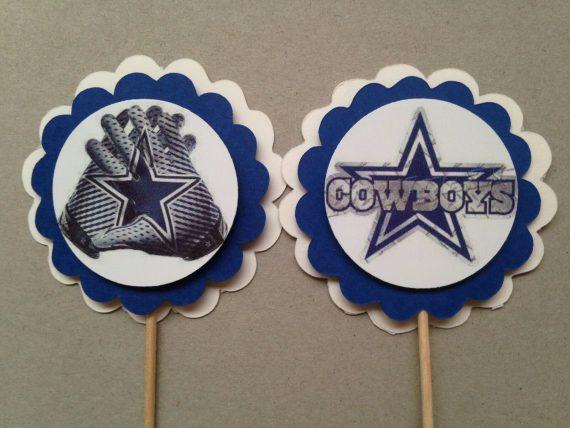 dallas-cowboys-cupcake-toppers-football-party-decor-cake-decoration-picks