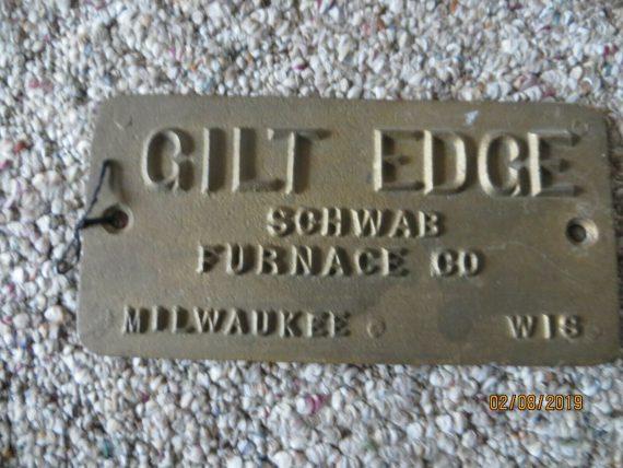 gilt-edge-schwab-furnace-co-milwaukee-wis-cast-iron-advertising-part-sign