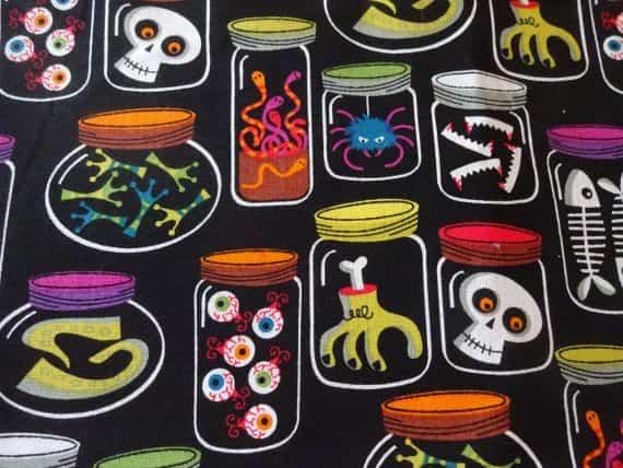 halloween-monster-jars-handmade-cotton-pillowcase-standard-queen-spooky-gift