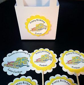 magic-school-bus-birthday-party-supplies-cupcake-toppers-treat-bags-stickers