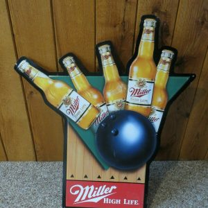 miller-high-life-bootles-of-beer-bowling-advertising-embossed-tin-beer-sign