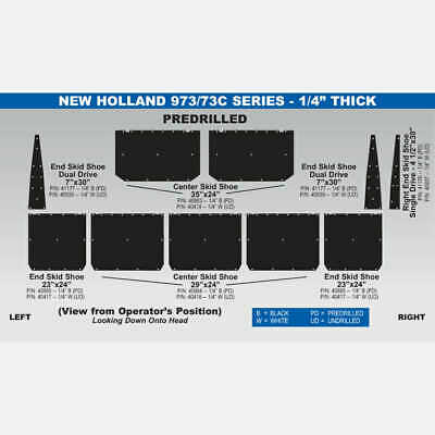 "New Holland 973 - 1/4"" Single Drive Skid Shoe - 4.5""x 30"" - 41176-2"