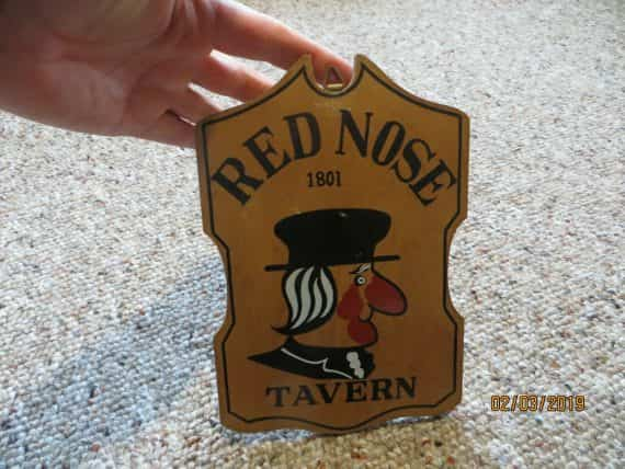 red-nose-tavernadvertising-bar-patron-wood-plaque-sign-wall-hanger-vtg
