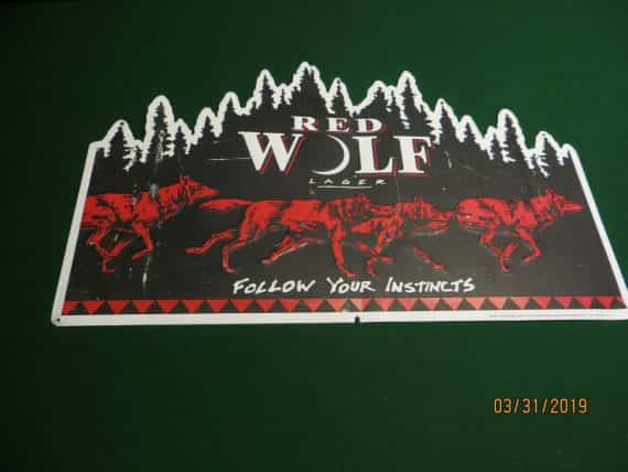 red-wolf-lagerfollow-your-instincts-embossed-beer-signanheuser-busch-inc