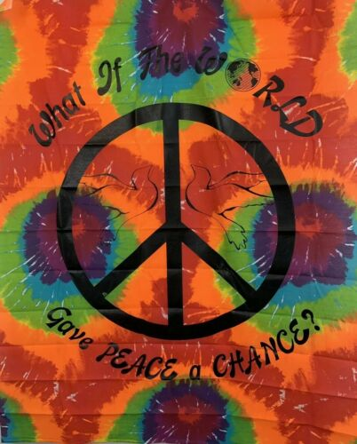 tye-dye-fabric-wall-hanging-give-peace-a-chance-tapestry-x-vintage