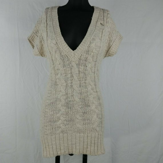 abercrombie-fitch-beige-sweater-dress-v-neck-short-sleeve-juniors-size-xs