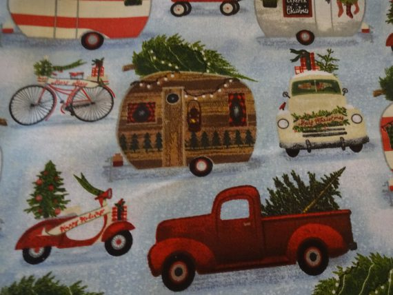 christmas-campers-antique-trucks-bicycles-scooters-handmade-cotton-pillowcase-standard-queen-gift