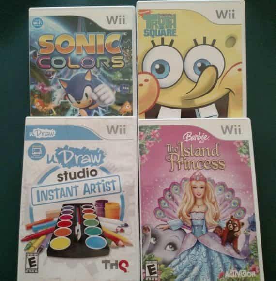 nintendo-wii-games-sonic-colorsu-draw-studio-barbie-sponge-bob-cib