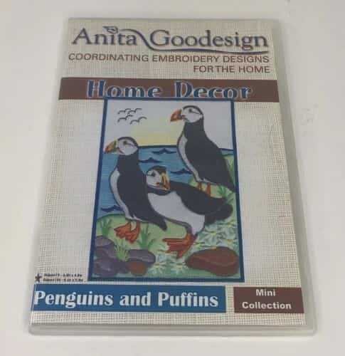 anita-goodesign-embroidery-cd-home-decor-penguins-and-puffins-mini-collection