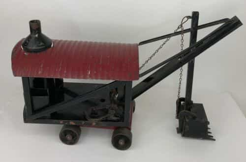 antique-s-buddy-l-pressed-steel-toy-mining-dredge-crane-with-bucket-works