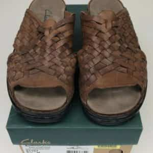 clarks-brown-ina-heart-slip-on-sandals-shoes-size-in-box