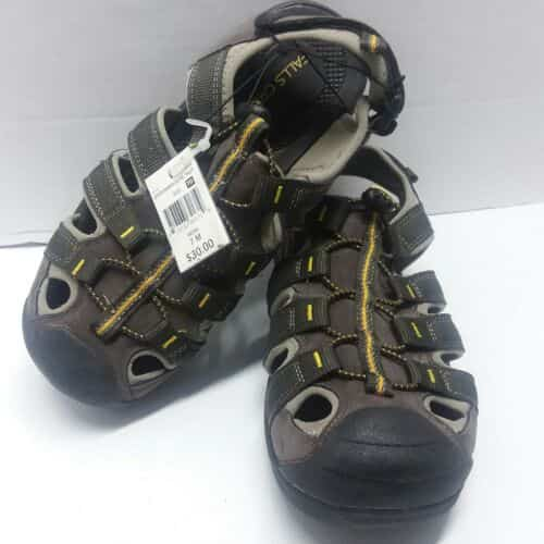 falls-creek-sportsman-olive-size-m-mens-sandals-outdoor-hiking-beach-boat-shoes