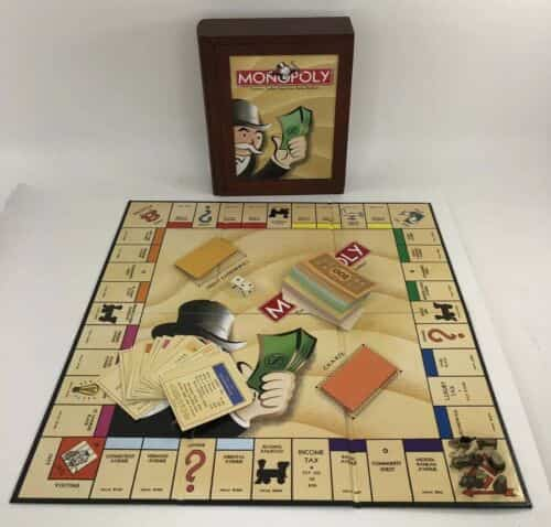 monopoly-in-bookcase-wood-box-complete