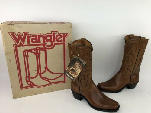new-vintage-wrangler-special-edition-leather-cowboy-boots-size-d-with-tags