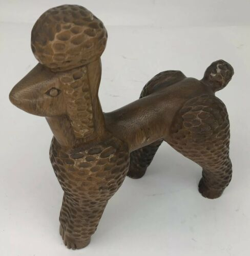 standard-poodle-dog-carved-wood-primitive-large-figurine-statue-collectible