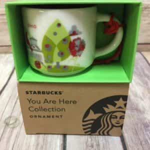 Starbucks Ohio You Are Here Ornament Mini Mug Ceramic New