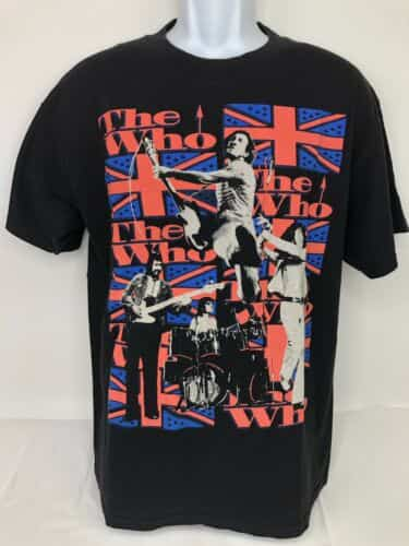 the-who-mens-large-black-concert-graphic-t-shirt-tee