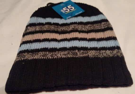thermal-sport-knit-winter-stocking-cap-hat-bennie-black-with-blue-brown-stripe