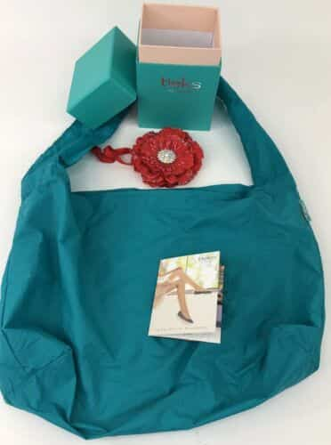 tieks-teal-box-flower-and-bag-size-for-size-chocolate-brown-box-only-no-shoes