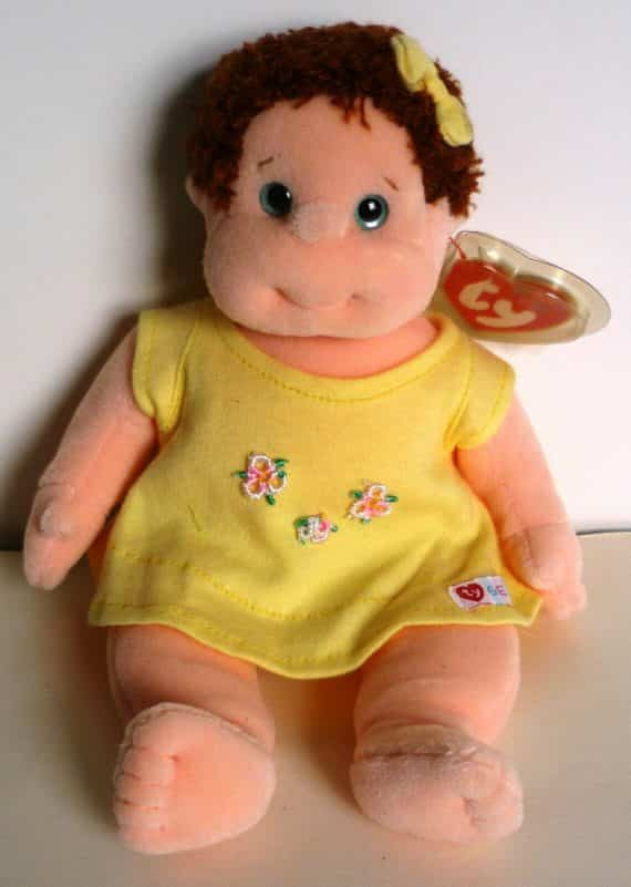 ty-curly-beanie-kids-plush-girl-doll-yellow-dress-new-tags