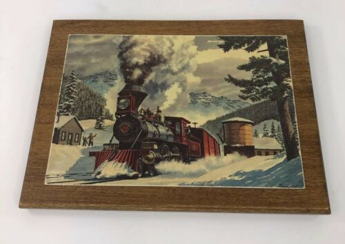 vintage-howard-fogg-black-train-engine-postcard-winter-snow-town-wood-backing