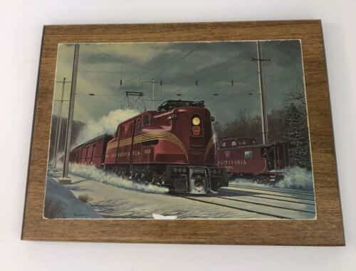 vintage-howard-fogg-red-train-engine-pulling-into-town-postcard-wood-backing