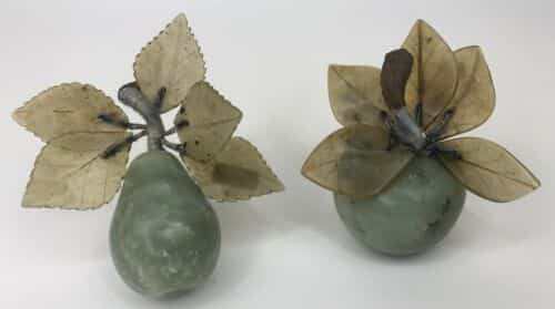 vintage-set-chinese-celadon-green-jade-carved-pear-and-apple-with-stone-leaves