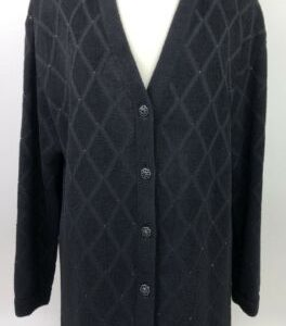 vintage-st-john-evening-by-marie-gray-black-knit-sparkle-cardigan-sweater