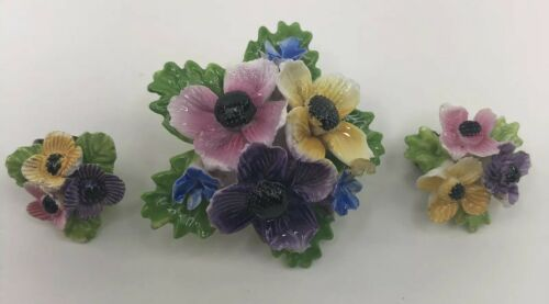 vintage-thorley-bone-china-flowers-brooch-pin-and-clip-on-earring-set