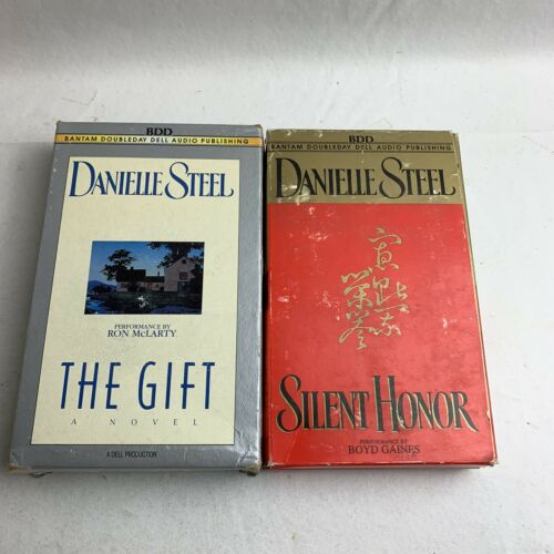books-danielle-steel-audio-cassette-books-silent-honor-the-gift