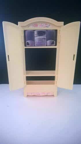1996 Mattel Barbie Dollhouse Furniture yellow Cabinet