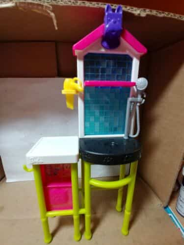 Barbie Doll Dog Leash Tub Pet Grooming Station