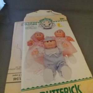 Butterick 6981 Cabbage Patch Kids Preemies Clothes Pattern