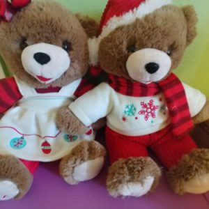 christmas-snowflake-teddy-bear-pair-plush-bears-brown-bear