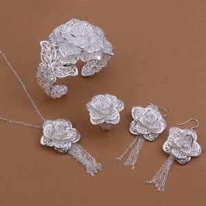elegant-four-piece-silver-plated-set