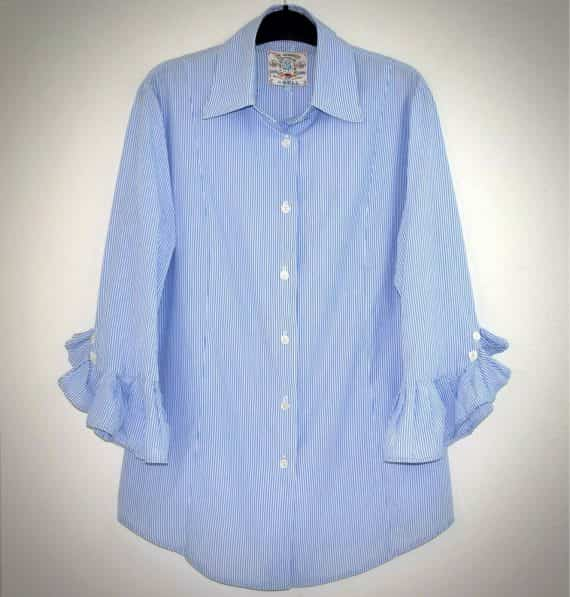 fine-garments-by-bell-womens-striped-blouse-blue-white-ruffle-sleeve-top
