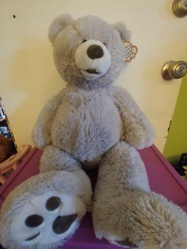 Blue Big Teddy Bear, Hugfun Plush Stuffed Teddy Bear Animal Gray Grey 25 Cute Soft Cuddly Gift