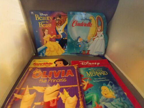lot-of-disney-princess-books-and-olivia-the-princess-paperbook