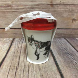 Starbucks Fox Ornament Christmas To Go Cup