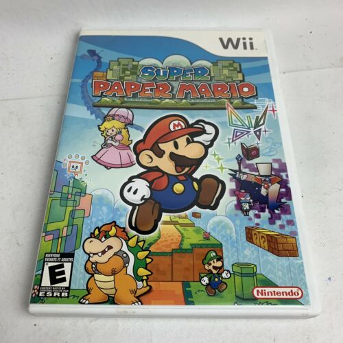 super-paper-mario-nintendo-wii-complete-with-manual-tested-free-ship