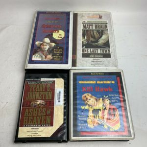 western-audiobook-cassette-lot-of-names-braun-johnston-knott-kill-hawk
