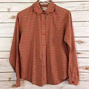 alicia-blouse-plaid-ruffled-collar-size-vintage-red-beige