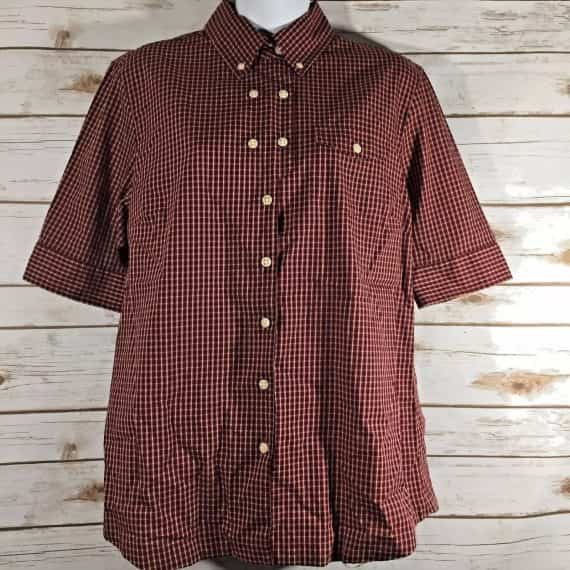 banana-republic-heritage-shirt-blouse-size-large-red-plaid-women