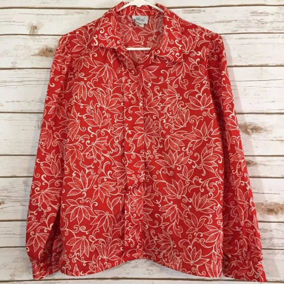 hawaiian-flower-blouse-shirt-size-vintage-alicia-aloha-silk-like-red-white