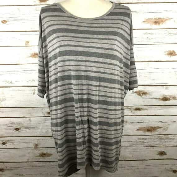 lularoe-irma-shirt-size-medium-striped-grey-gray-stretch-womens-top