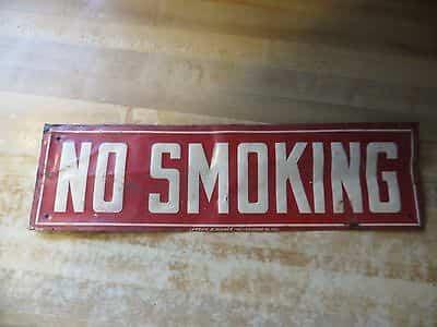 original-no-smoking-vtg-tin-metal-signwarning-tobacco-sign-lansing-a-warner